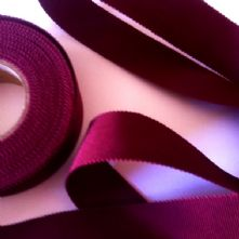 Wine Milliner's Petersham Ribbon in 2 Widths